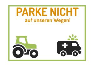 Franken: Parke nicht auf unseren Wegen!