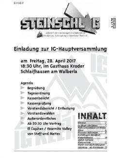 Neue Steinschlag-Redaktion gesucht!