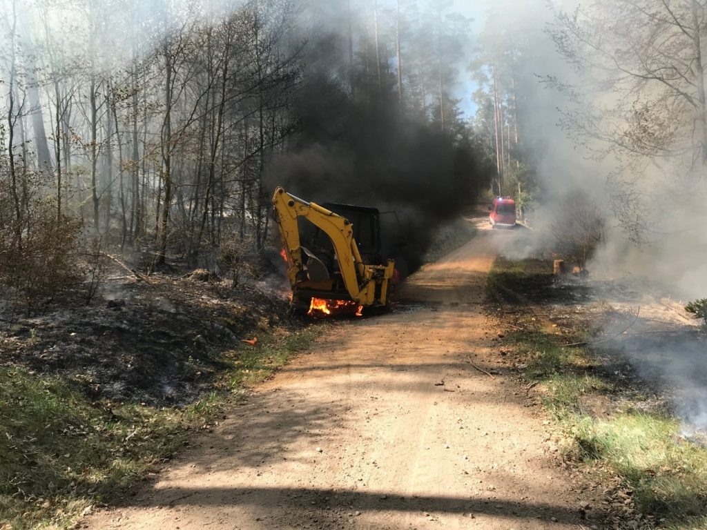 Franken: Waldbrand bei Neuensorg/Hartenstein
