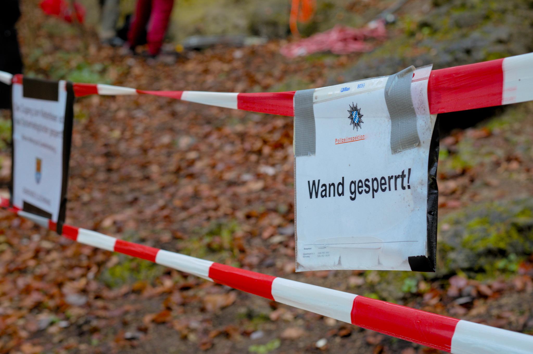 Update: Felsausbruch mit Umlenker an der Annasteinseite im Frankendorfer Klettergarten