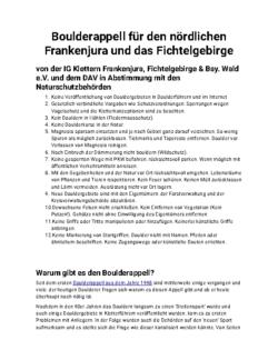 Bouldern Frankenjura PDF